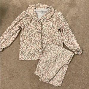 Pink leopard 2 piece pajamas